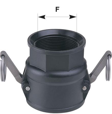 Koppling med CAM-lås F/F