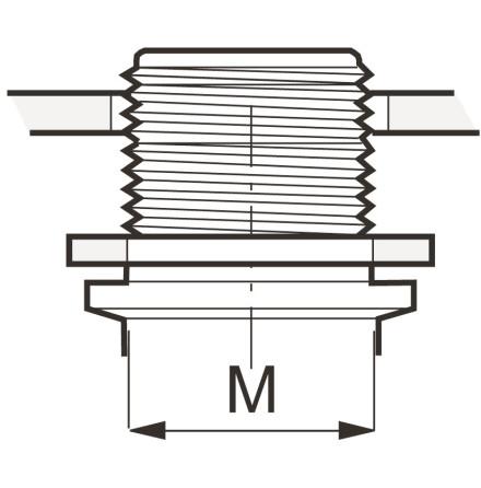Planpackning för M-gängade rördelar och tankgenomföringar